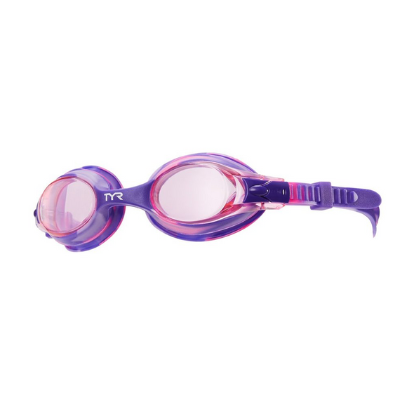 Purple Tie Dye Goggles for Swimmers