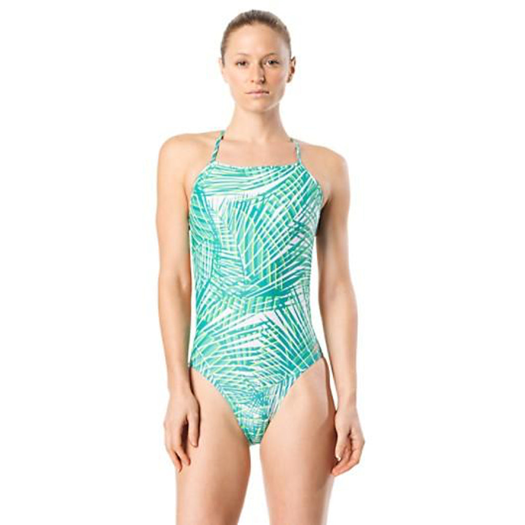 Turnz Tie Back Suit - Radiant Green