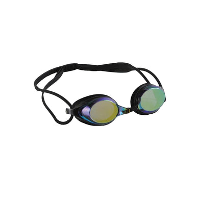 Black Swim Goggles with Wide Panoramic Lense