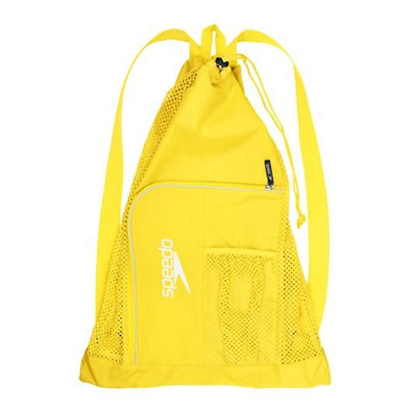 Yellow Mesh Bag with Shoulder Straps