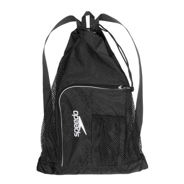 Swimmer's Black Mesh Bag
