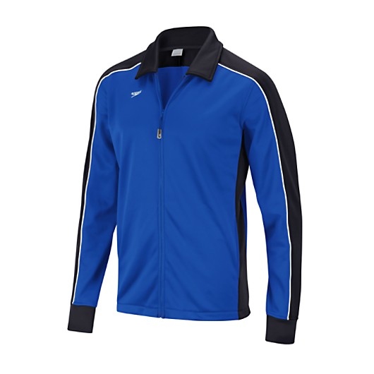 Female Streamline Warm Up Jacket - Black/Sapphire