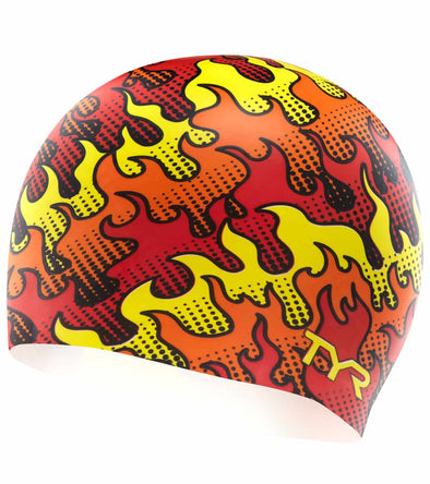 TYR graphic silicone cap