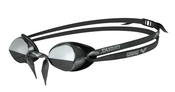 Black Mirrored Goggles for Competitive Swim