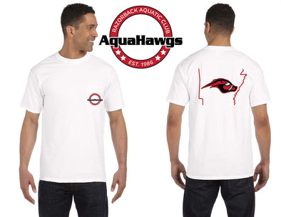 Comfort Colors Short Sleeve Pocket White Aquahawgs T-shirt