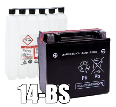 LTX14-BS, YTX14-BS AGM Motorcycle/ATV Battery