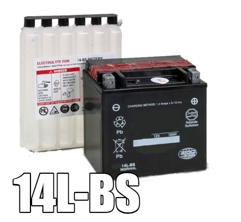 14L-BS AGM Maintenance Free Battery