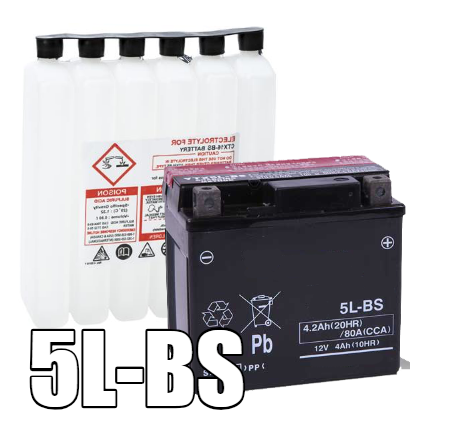 5L-BS AGM Maintenance Free Battery
