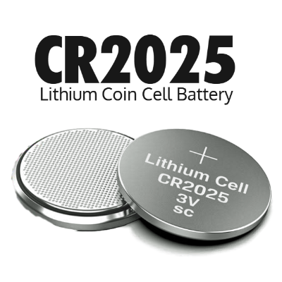 CR2025 3V Lithium Coin Cell Battery