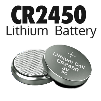 CR2450 3V Lithium Coin Cell Battery