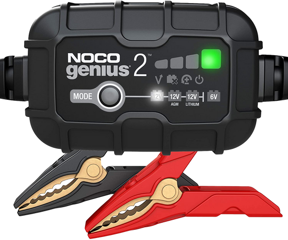 NOCO GENIUS2-Amp Battery Charger, Battery Maintainer, and Battery Desulfator