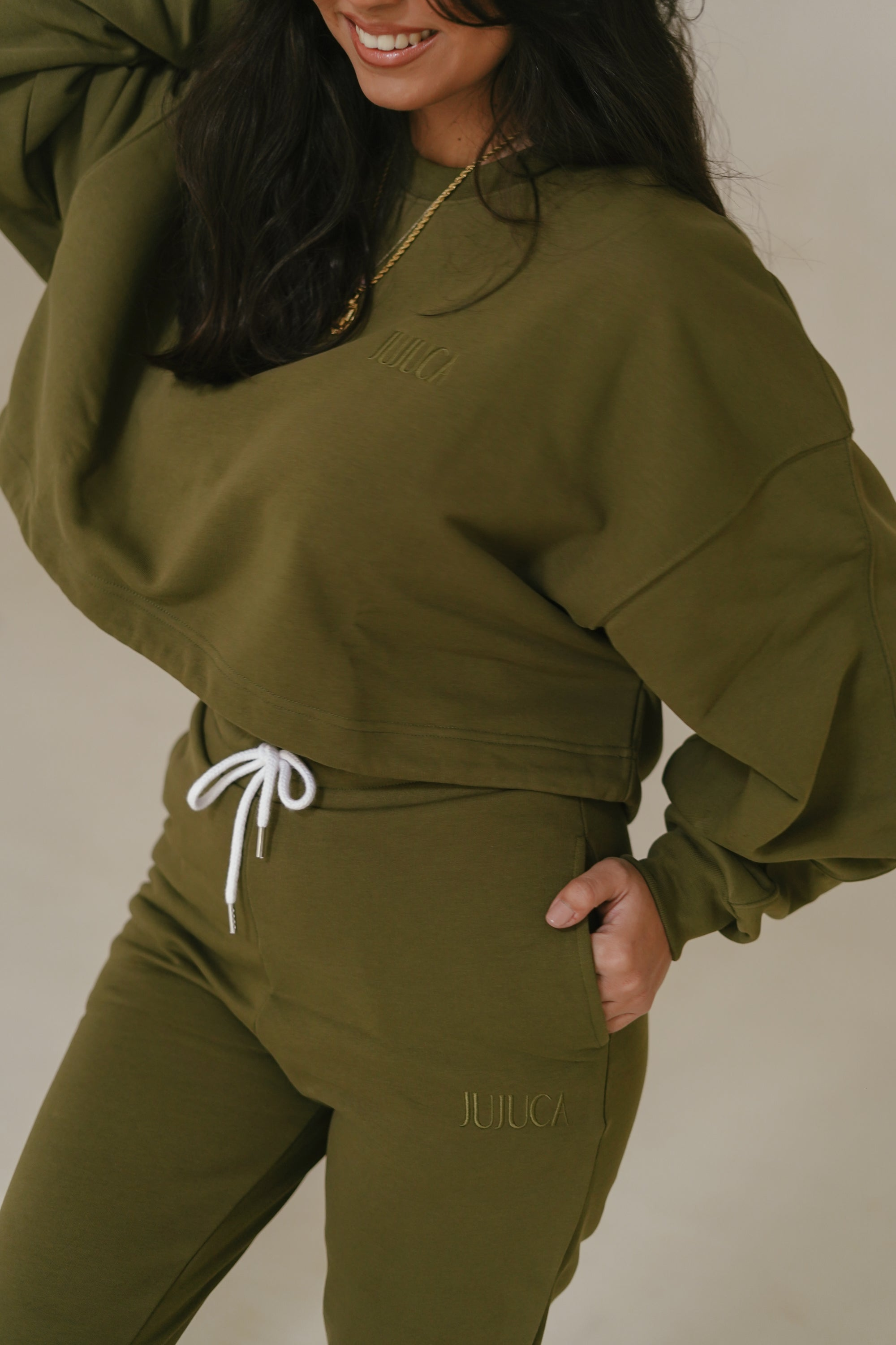 SWEATER CROPPED KHAKI