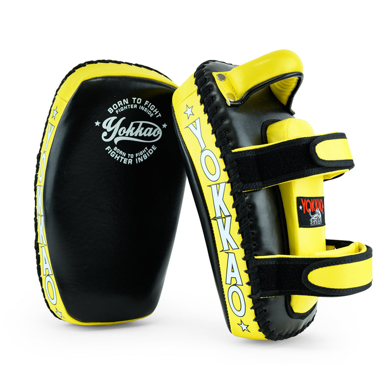 Kicking Pads Microfiber Leather Black/Yellow