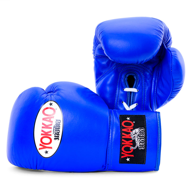 Matrix Blue Lace Up Boxing Gloves