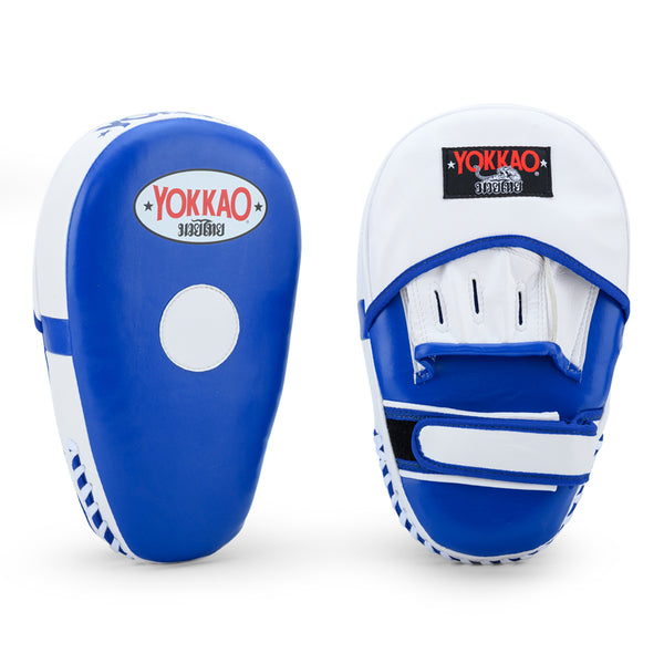 Long Focus Mitts Microfiber Blue/White