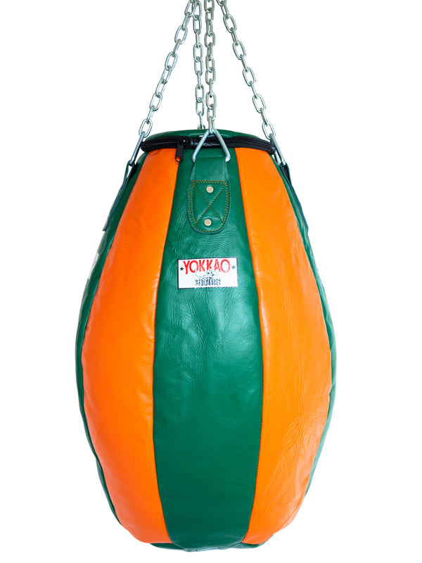 Tear Drop Heavy Bag Eden Green/Orange Tiger