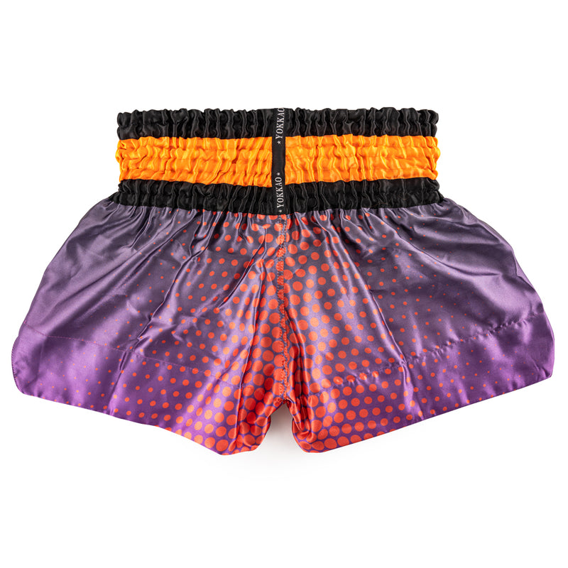 Space Violet Satin Shorts