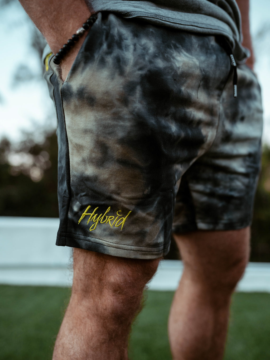 Hybrid Sweat Shorts Brown Tie Die