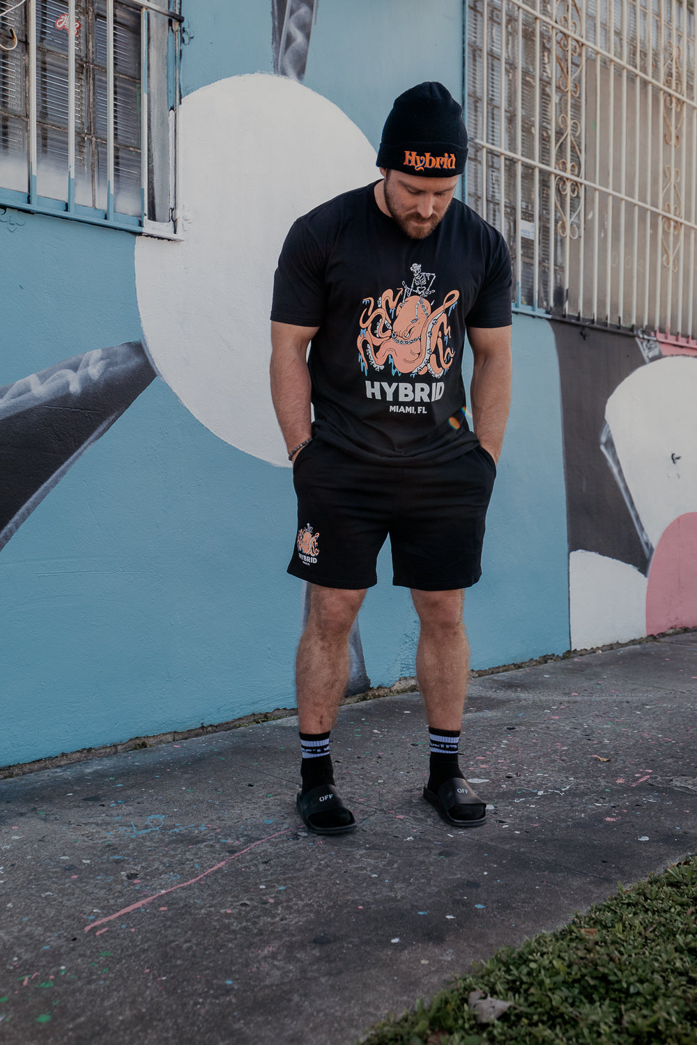 HYBRID Black Kraken Shorts