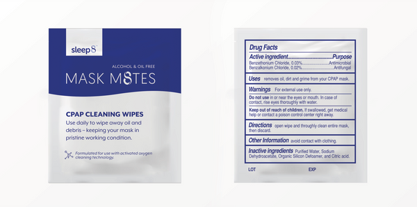 Sleep8 Mask M8tes CPAP Wipes Pack of 30