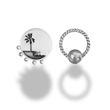 Load image into Gallery viewer, Palm Tree One-sided Earrings