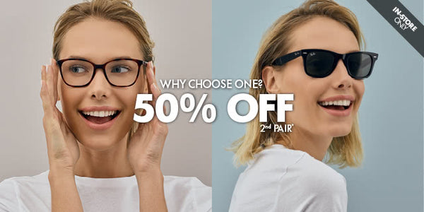 Promotional banner for prescription eye wear sale.