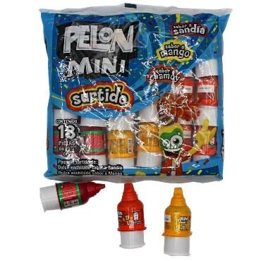 MINI PELON MIXTO 18 PZS - Super Dulcería Salas