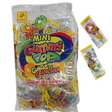 MINI GUMMY POP 50 PZS DE LA ROSA - Super Dulcería Salas