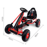 Go-Kart Rigo Pedal Power Kids Ride On - Red, Pink, Blue Or Black