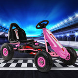 Go-Kart Pedal Power Kids Ride On - Pink, Black, Blue Or Red