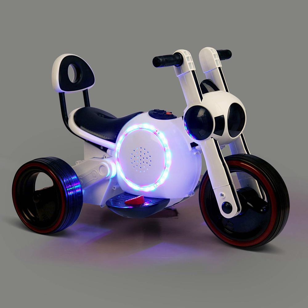 Baymax Style Motorcycle Kids Electric Ride On - White