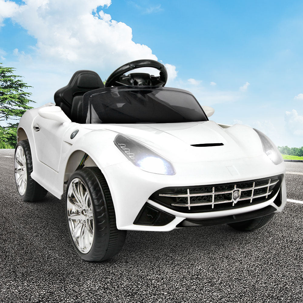 Ferrari F12 Inspired Sports Car Kids Electric Ride On - White