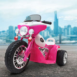 Harley Police Tricycle Inspired Kids Electric Ride On - Black Or Pink