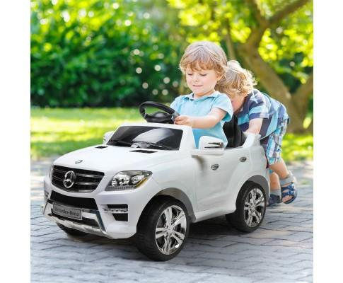 Mercedes Benz ML350 Licensed Kids Electric Ride On - White
