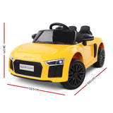 Audi R8 Licensed Kids Electric Ride On - Yellow Or Black