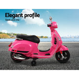 Vespa GTS Scooter Licensed Kids Electric Ride On - Blue, Pink Or White
