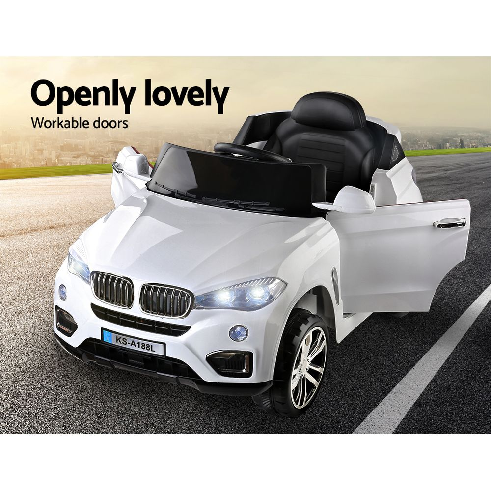 BMW X5 S Inspired Kids Electric Ride On - White Or Black