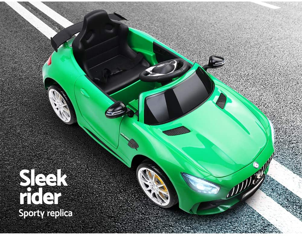Mercedes Benz AMG GT R Licensed Kids Electric Ride On - Green, Black Or Pink