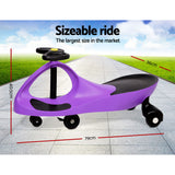 Swing Car Kids Keezi Ride On - Purple, Red, Pink, Green Or Blue