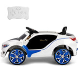BMW i8 Style Sports Car Kids Electric Ride On - Blue & White