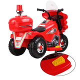 Police Patrol Motorbike Kids Electric Ride On - Red, Pink, White Or Black