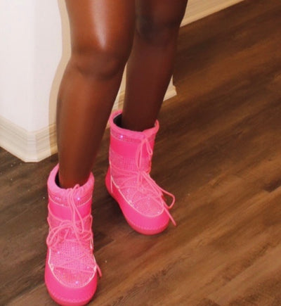 Sparkling Pink Boots