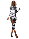 Cow Print Loop Hole Dress