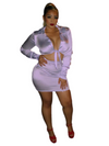 2 Piece All White Stallion Skirt Set