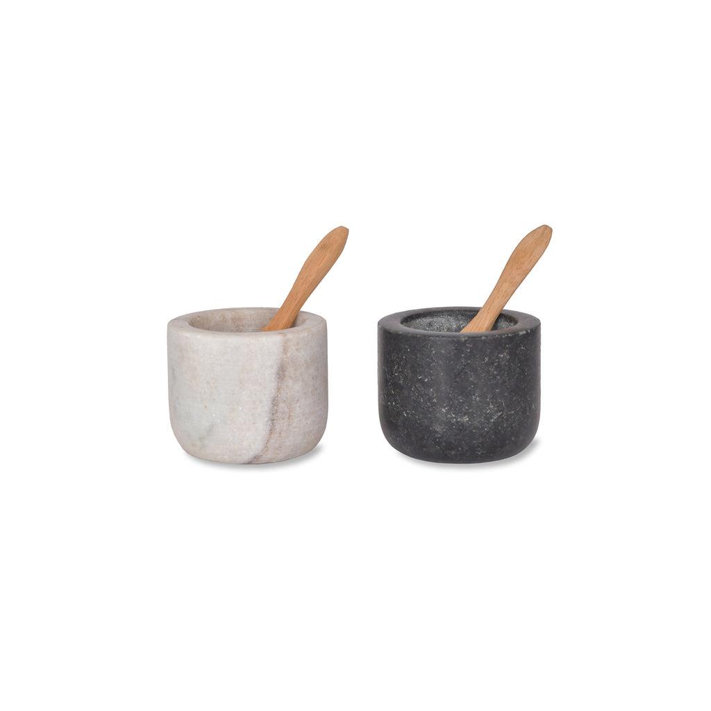 Marble and Granite Brompton Salt and Pepper Pots
