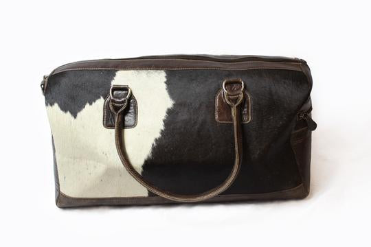 Cow Hide Weekend Bag
