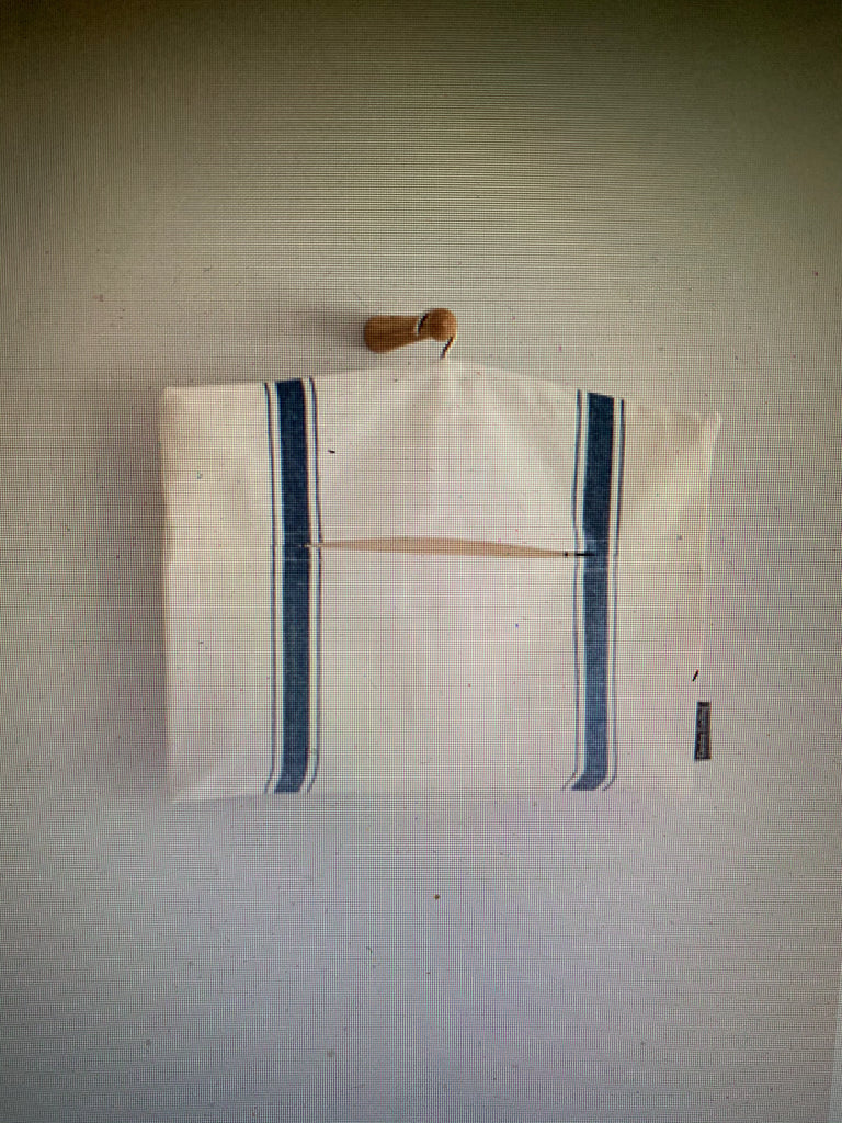 Peg Bag in Ink Stripe in Cotton