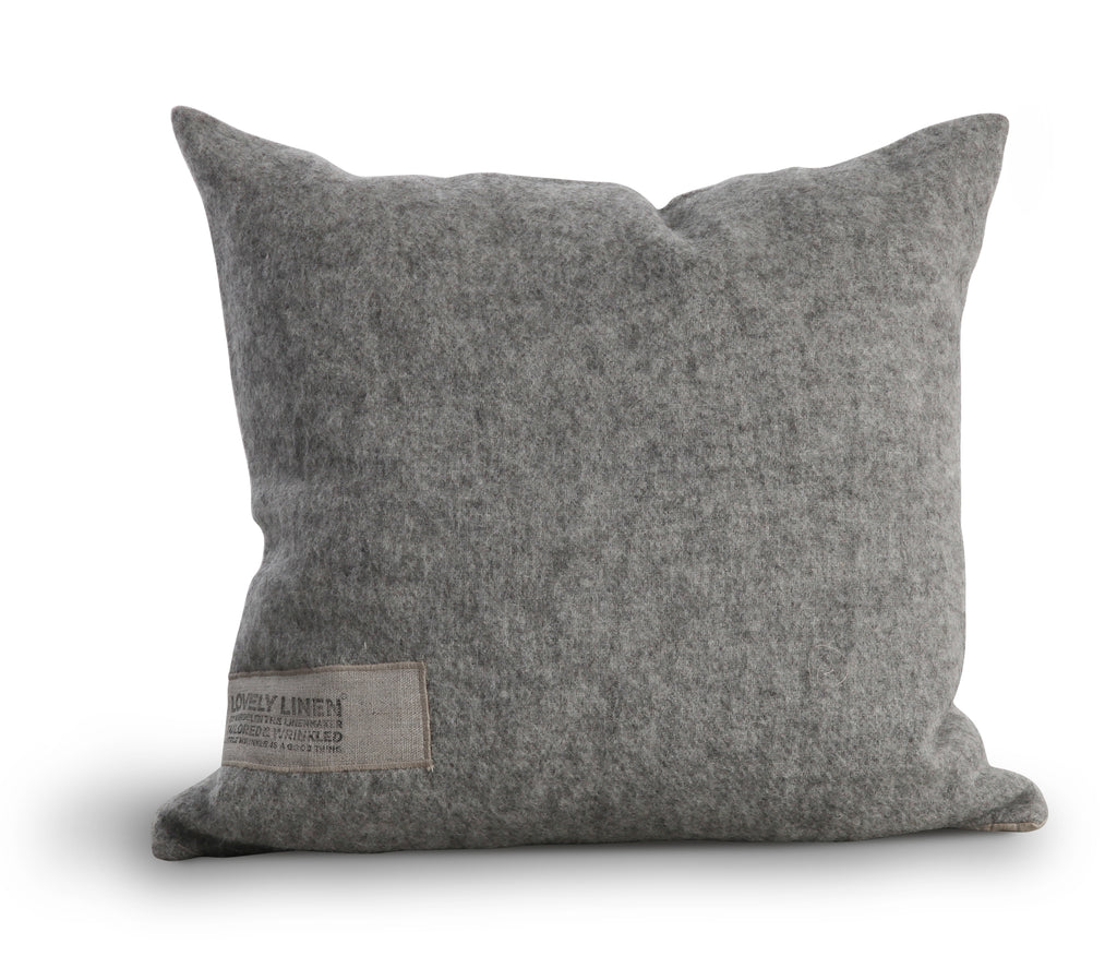 Lovely Linen Wool and Linen Cushion in Grey