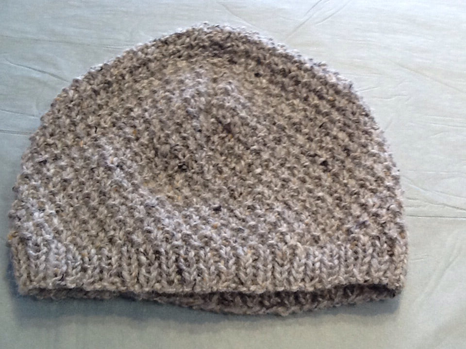 Hand Knitted Beanie Hat in Donegal Wool