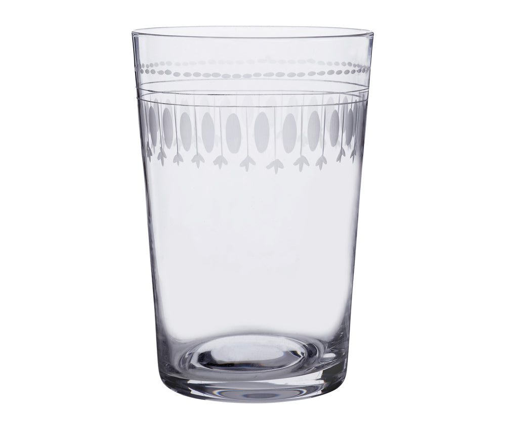 Set of Six Oval Crystal Tumblers